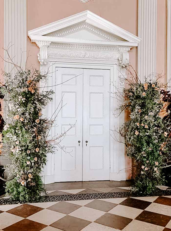 Deconstructed Arch Wild floral arch Ragley Hall Passion for Flowers