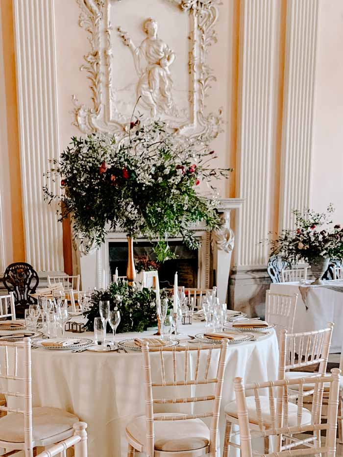 Ragley Hall Wedding Centrepieces Florist Passion for Flowers
