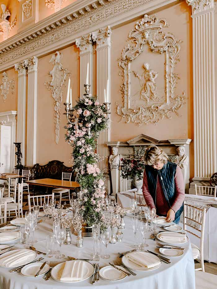 Ragley Hall Wedding Florist Candelabra Passion for Flowers
