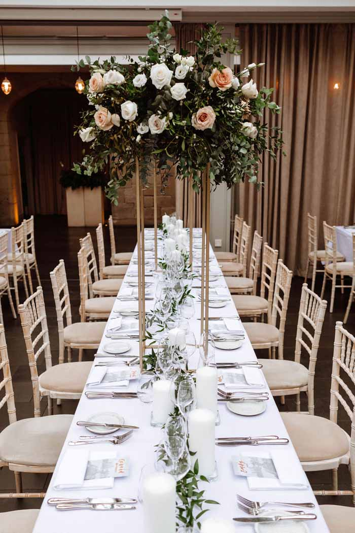 Winter wedding flowers Hampton Manor24