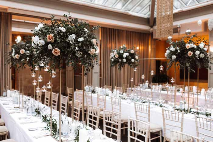 Winter wedding flowers Hampton Manor