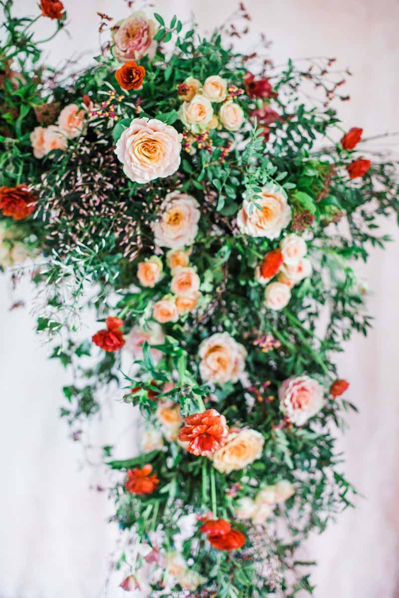 roses wedding backdrop