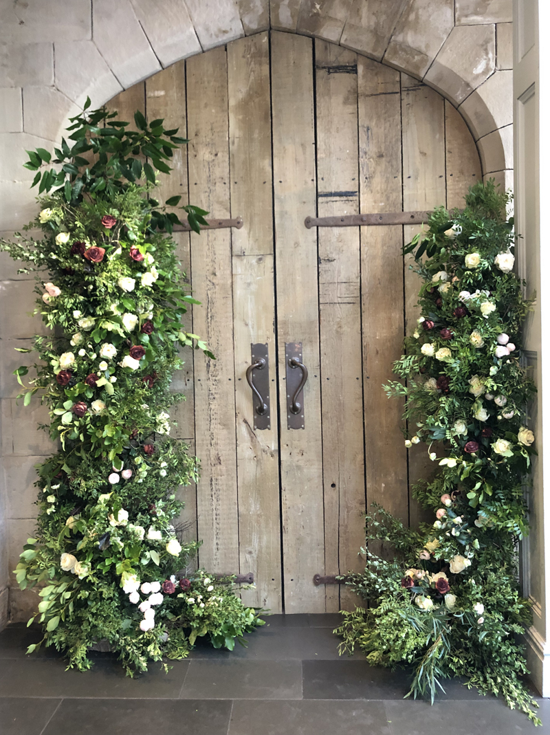 Organic-style-wedding-arch-asymetric-doorway-florals-by-Passion-for-Flowers-sml