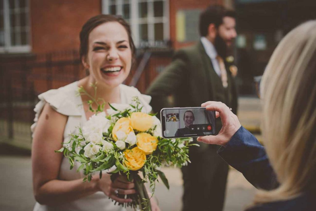 micro wedding bouquets facetime guests