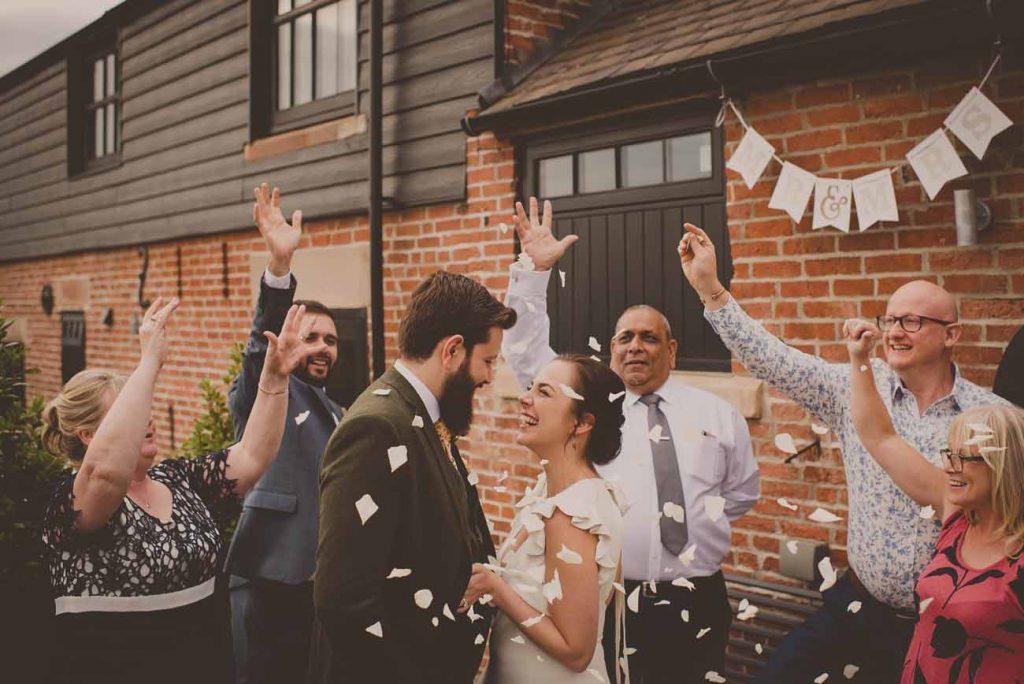 micro wedding confetti shot
